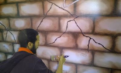 الصباغة طريقة عمل تحجير الجدران جميل جدا