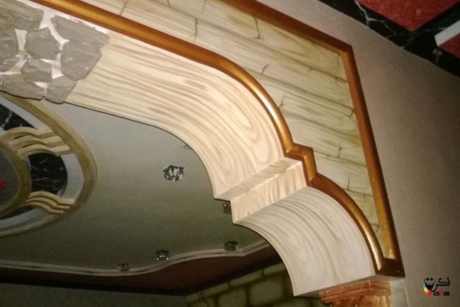 اسهل طريقة عمل ديكور شبيه بالخشب الحلقة 3
