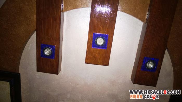 ديكورات تخشيب السقف بالدهانات من تصميم فكرة كلر