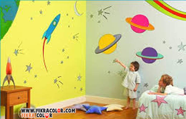 ديكورات الدهانات غرف النوم للاطفال لاخذ الافكار