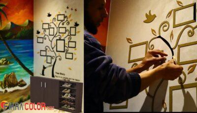 طريقة تركيب ملصقات الحائط 3D شجرة الصور