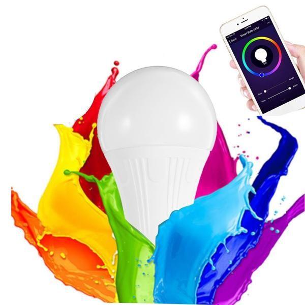 شراء مصباح منزلي يتم التحكم عن طريق الجوال 7W RGBW WiFi APP Controlled LED Smart Light Bulb for Echo Alexa Google Home