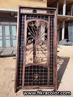 ديكورات ابواب حديدية باشكال مغربية