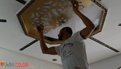 طريقة طلاء وتركيب خشب سي ان سي cnc على الاسقف