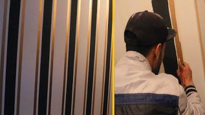 طريقة صبغ الجدران بخطوط طوليه بشكل انيق وسهل