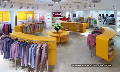 ديكورات محلات من الداخل محلات بيع الملابس decor
