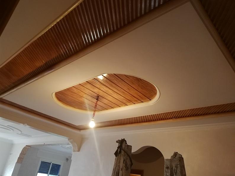 طلاء الجبس بالفيرني وارجاعه على شكل خشب