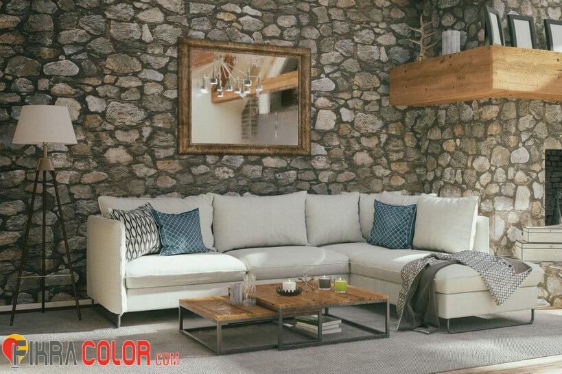 ديكور احجار جدران