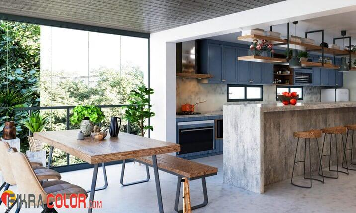 مطبخ ازرق