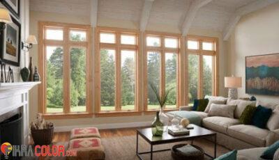 نوافذ خشبية رائعة بالوان مميزة