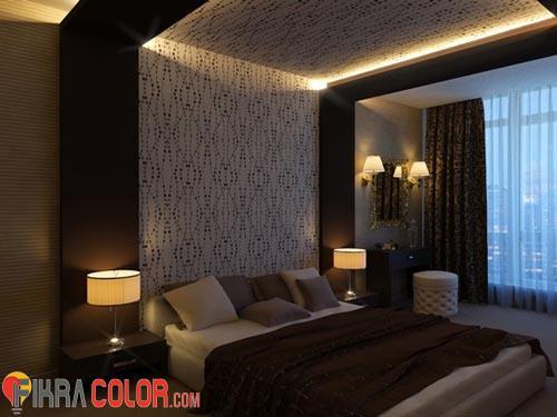 اضاءة خافتة لغرف النوم