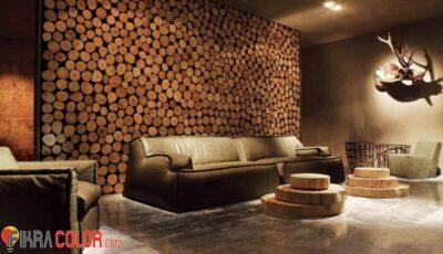اشكال ديكورات خشب على الحائط