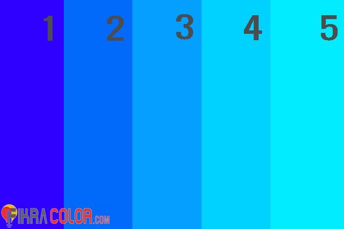 درجات اللون الازرق