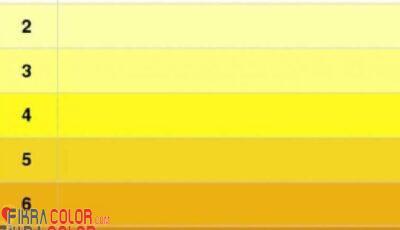 درجات اللون الاصفر