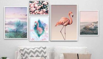 نصائح في اختيار اللوحات الفنية لجدران غرف المعيشة